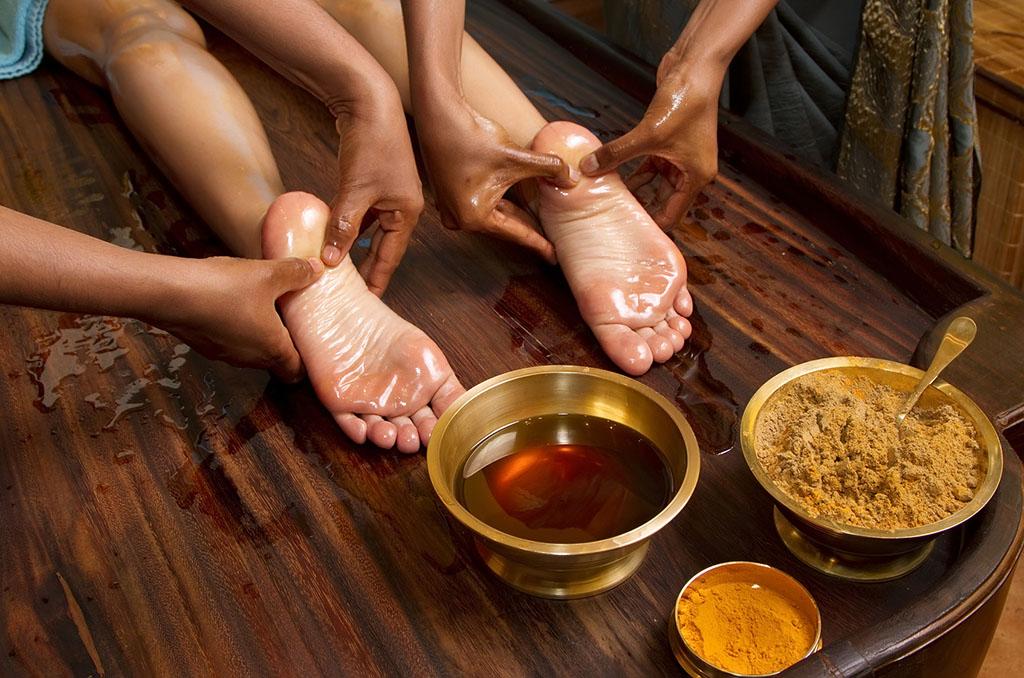 Massage ayurvédique des pieds