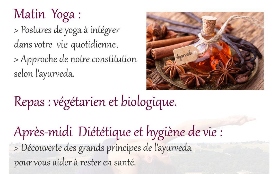 Stage Yoga et Ayurvéda du 3 au 7 Juillet